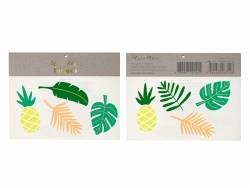 8 Tatouages temporaires -feuilles tropicales et ananas Meri Meri - 1