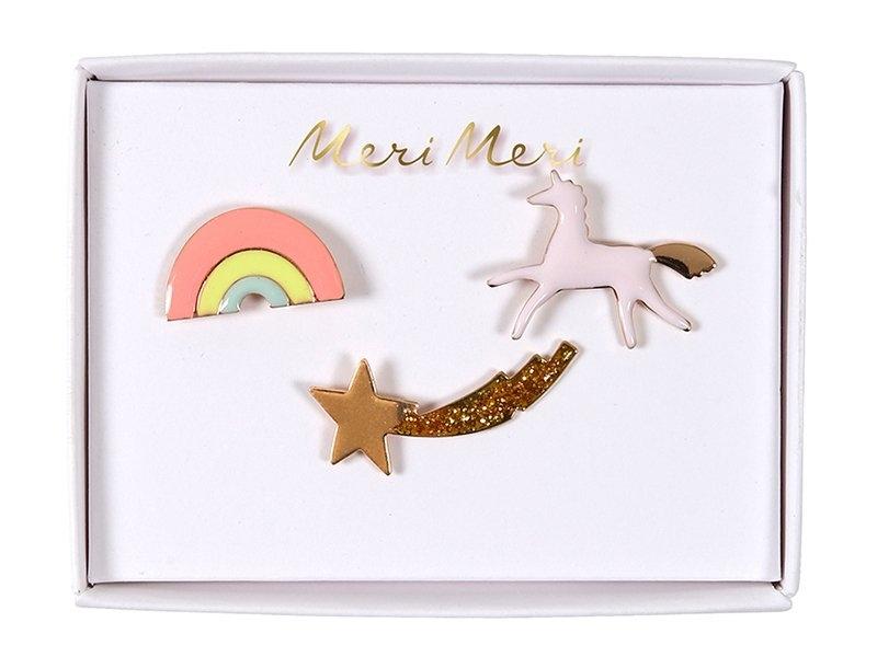 Acheter 3 pin's broche licorne, arc-en-ciel et étoile filante - 9,99€ en ligne sur La Petite Epicerie - Loisirs créatifs