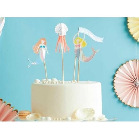 Acheter Kit cupcakes sirènes - 24 caissettes et toppers - 12,99€ en ligne sur La Petite Epicerie - Loisirs créatifs