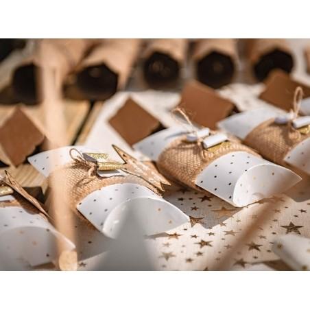 Acheter 8 étiquettes cadeaux rectangulaires - chevrons dorés - 2,99€ en ligne sur La Petite Epicerie - 100% Loisirs créatifs