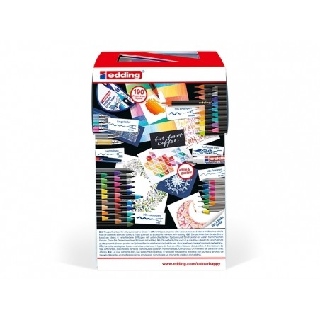 Colour happy box - Enorme pack de 70 feutres pour lettering et le coloriage Edding - 3
