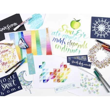 Colour happy box - Enorme pack de 70 feutres pour lettering et le coloriage Edding - 2