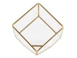 Terrarium cube en laiton et verre Sass&Belle - 1