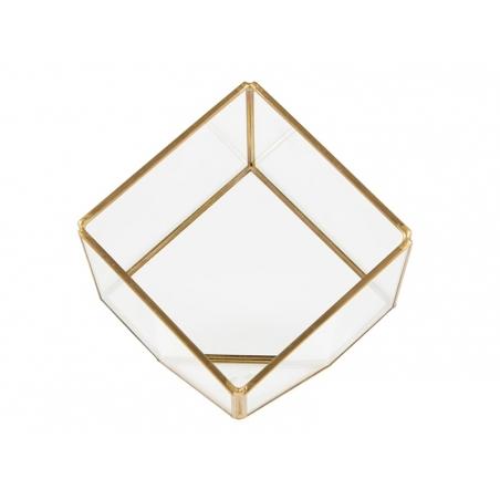 Acheter Terrarium cube en laiton et verre - 20,90€ en ligne sur La Petite Epicerie - 100% Loisirs créatifs