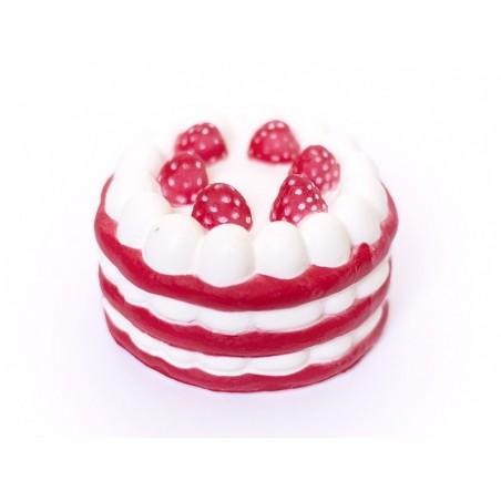 Squishy charlotte aux fraises - rouge -  anti stress  - 1