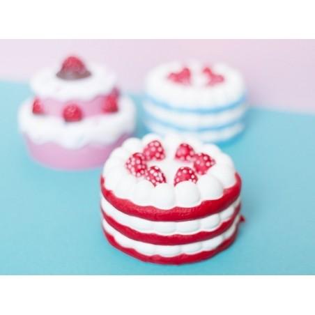 Squishy charlotte aux fraises - rouge -  anti stress  - 2