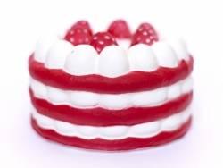 Squishy charlotte aux fraises - rouge -  anti stress  - 3