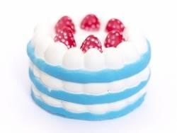 Squishy charlotte aux fraises - bleu  -  anti stress  - 1