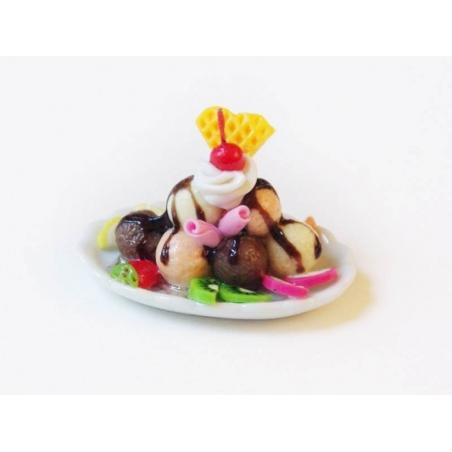 Magnifique coupe glacée miniature - ovale  - 1