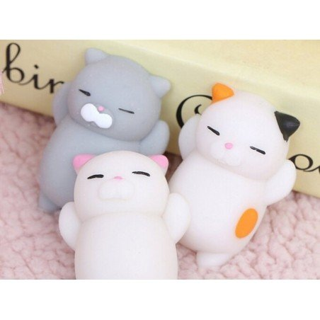 Mini squishy chat gris qui dort -  anti stress  - 2