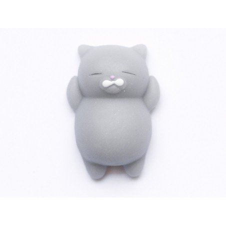 Mini squishy chat gris qui dort -  anti stress  - 3