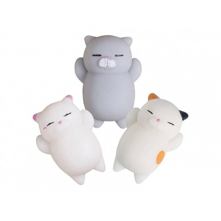 Mini squishy chat gris qui dort -  anti stress  - 4