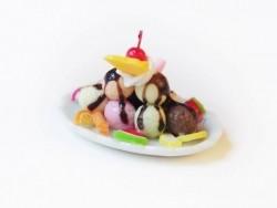 Magnifique coupe glacée miniature - ovale