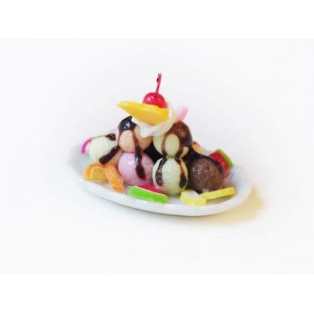 Magnifique coupe glacée miniature - ovale  - 2