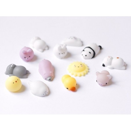 Mini squishy ours polaire rose  -  anti stress  - 5