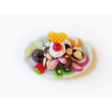 Magnifique coupe glacée miniature - ovale  - 3