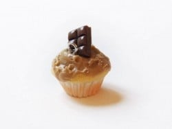 Pendentif cupcake - spéculos chocolat