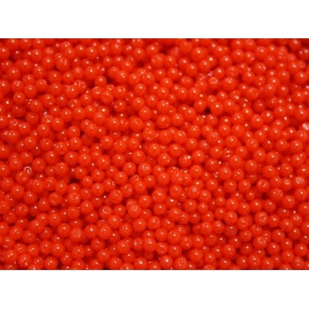 Lot de 100 billes d'eau rouges / corail pour le slime  - 4