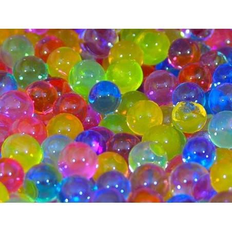 Lot de 500 billes d'eau multicolores pour le slime  - 2