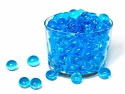 Lot de 100 billes d'eau bleues pour le slime