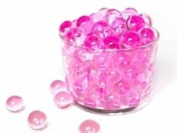 Lot de 100 billes d'eau rose fuschia pour le slime