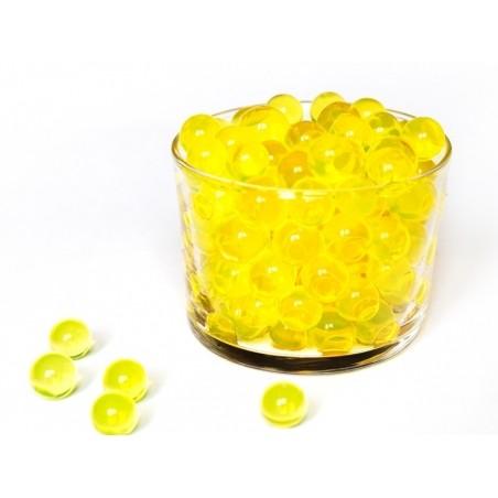 Lot de 100 billes d'eau jaunes pour le slime  - 1