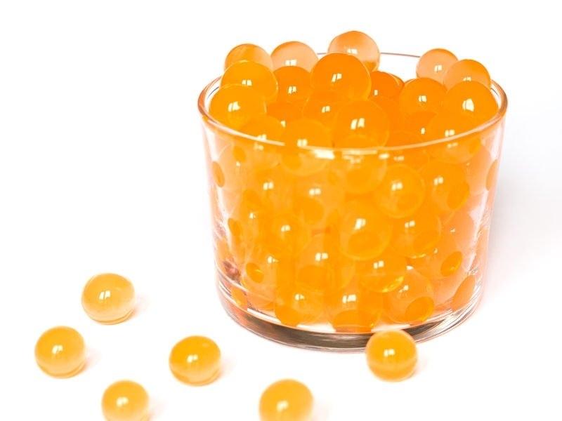 Lot de 100 billes d'eau oranges pour le slime  - 1