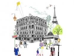 Livre colorier Paris de Hennie Haworth