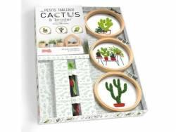 Coffret livre Mes petits tableaux cactus à broder - Corinne Odo-Valette Larousse - 5