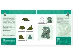 Livre Dinosaures à créer en pâte polymère Créapassions - 4