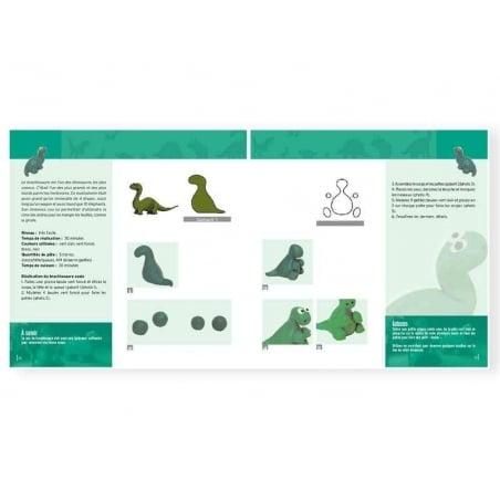 Livre Dinosaures à créer en pâte polymère Créapassions - 5