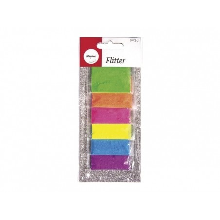 Acheter Lot de 6 sachets de poudres de paillettes - couleurs fluo - 2,99€ en ligne sur La Petite Epicerie - 100% Loisirs cré...