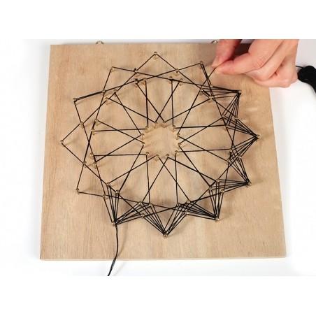 Kit string art tableau rosace Graine Créative by DTM - 2