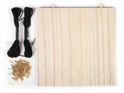 Acheter Panneau de bois pour le string art - pack tableau neutre - 9,99€ en ligne sur La Petite Epicerie - 100% Loisirs créa...