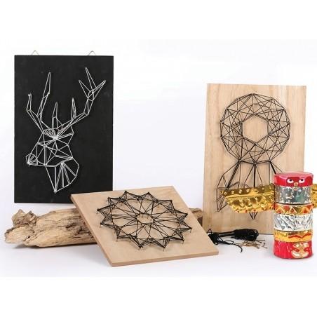 Acheter Panneau de bois pour le string art - pack tableau neutre - 9,99€ en ligne sur La Petite Epicerie - Loisirs créatifs