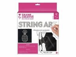 Kit string art tableau ananas Graine Créative by DTM - 2