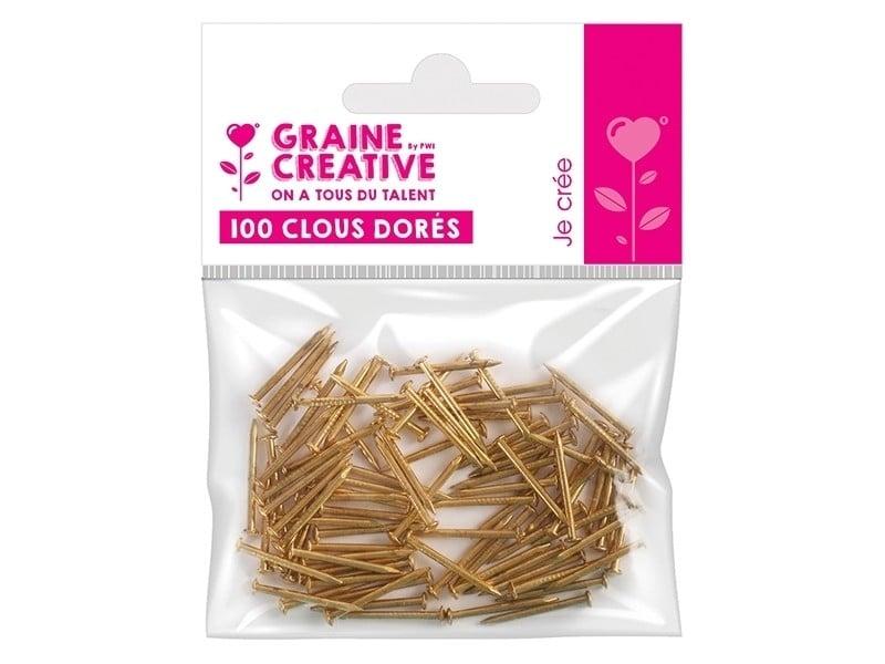 Acheter 100 clous dorés pour string art et do it yourself - 4,19€ en ligne sur La Petite Epicerie - Loisirs créatifs
