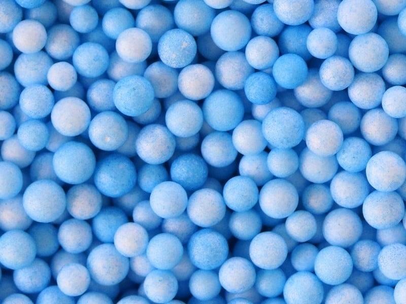 Billes de polystyrène bleu ciel  - 1