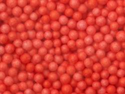 Billes de polystyrène rouge