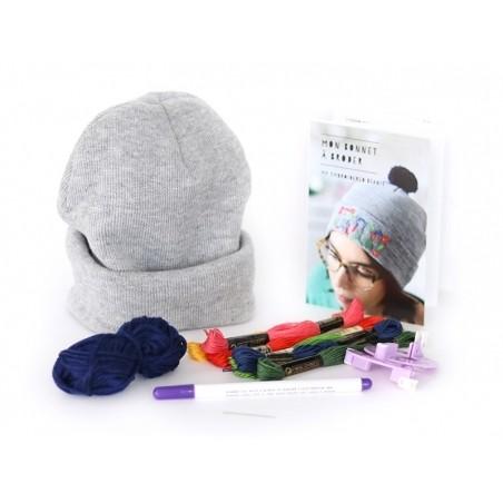 Acheter Kit MKMI - mon bonnet à broder - 16,99€ en ligne sur La Petite Epicerie - 100% Loisirs créatifs