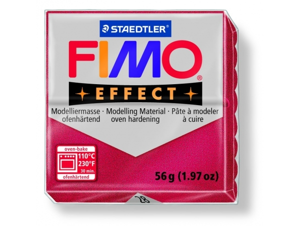 Fimo Effect - metallic colour ruby red no. 28