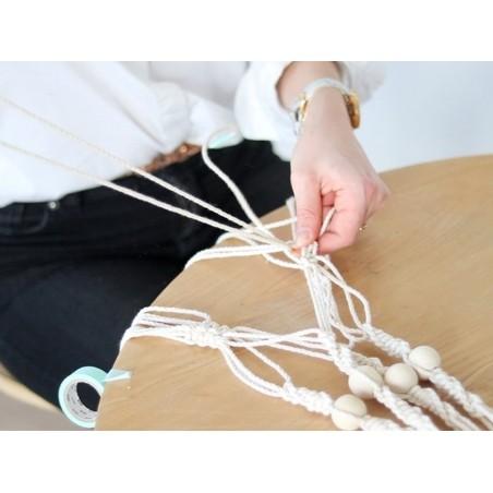 acheter bobine de fil de coton pour macram 6 mm beige. Black Bedroom Furniture Sets. Home Design Ideas