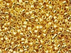 Miyuki Delicas 11/0 - doré à l'or fin 24 carats