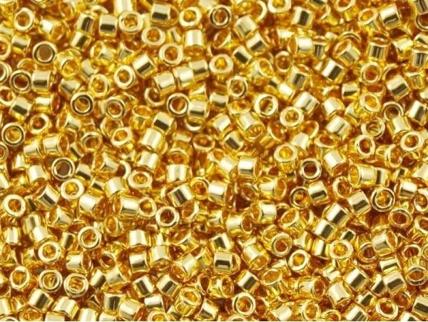 Acheter Miyuki Delicas 11/0 - 24kt gold plated DB-31 - 9,49€ en ligne sur La Petite Epicerie - Loisirs créatifs