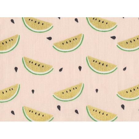 Acheter Tissu imprimé - pastèque dorée - 1,79€ en ligne sur La Petite Epicerie - Loisirs créatifs