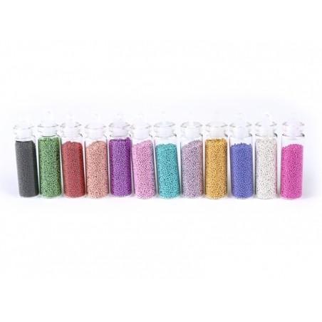 Acheter lot de 12 fioles remplies de microbilles - 6,99€ en ligne sur La Petite Epicerie - Loisirs créatifs