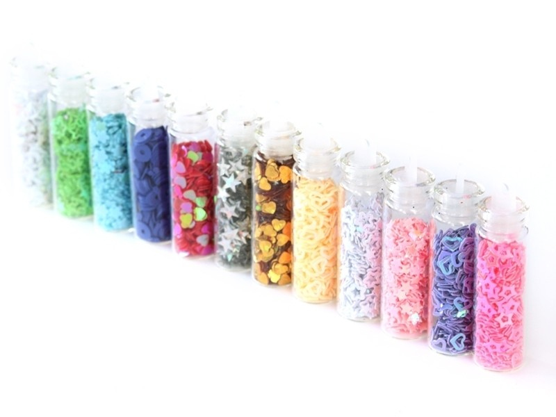 Acheter lot de 12 fioles remplies de paillettes - 5,50€ en ligne sur La Petite Epicerie - Loisirs créatifs