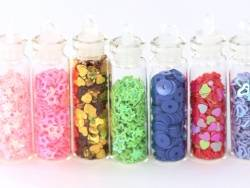 Acheter lot de 12 fioles remplies de paillettes - 5,50€ en ligne sur La Petite Epicerie - 100% Loisirs créatifs
