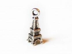 1 kleiner Eiffelturmanhänger - dunkelsilber