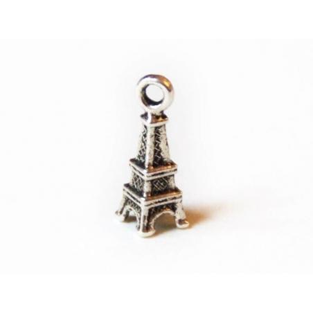 1 small Eiffel Tower charm - dark silver-coloured